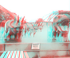 dinosaur1 (The_Jon_M) Tags: 3d 3ds stereogram prisma october 2016 october2016 oct anaglyph redcyan england uk europe urban alcatelpop4 alcatel zoo blackpool blackpoolzoo dinosaur dinosaurs lancashire