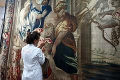 Tapiz Muerte de Aquiles (KRONOS Servicios de Restauracin) Tags: tapices museodeartesdecorativas restauracindetejidos kronos
