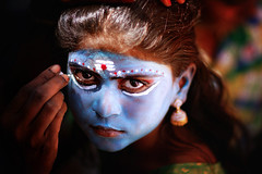 Kaali makeover (kevinkishore) Tags: god goddess kaveripattinam festival face eyes looks girl child portrait makeover makeup painting travel traditional tradition culture temple custom india tamil tamilnadu celebration color colourful