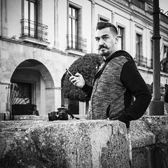 Pepe Reyes-161015-081 (Pepe Reyes (jorego)) Tags: 2016 ronda bn bigotudo fotografacallejera hombre mvil perilla streetphotography tajo