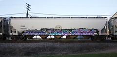 Jerms/Lae/Merk (quiet-silence) Tags: graffiti graff freight fr8 train railroad railcar art jerms lae merk bks trk gtk hopper tcmx tcmx450541
