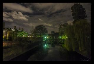 Clare College in the dark [Explored]