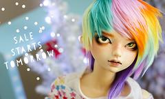 Sale starts tomorrow! (Frappzilla) Tags: bjd doll guudoll rainbow hair wig sale