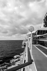 Cruise (malc1702) Tags: cruise sailing ship ocean sky waves legendoftheseas royalcaribbeancruises blackwhite nikond7100 nikkor18140mm travel holiday relaxation fun