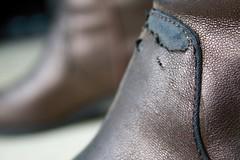 The Beatles - Old Brown Shoe (julieanh) Tags: oldbrownshoe macromondays thebeatles julieanh