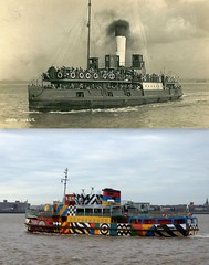Mersey Ferry, 1910 and 2016 2 (Keithjones84) Tags: liverpool oldliverpool thenandnow history localhistory merseyside rephotography