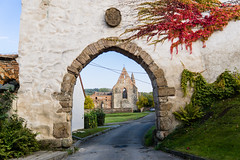 Through the archway (Gecon) Tags: rosa coeli dolni kounice czech republic sony a6000 sigma 19mm outdoor historical building monastery old arch archway architecture autumn fall colors