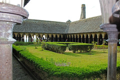 The Monks Cloister at Mont St Michel (big_jeff_leo) Tags: stmichaelsmount montstmichel france castle rock coast abbey monk stone walls towers medieval normandy history heritage ancient old column gothic tidal estuary unesco island