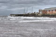 Paignton Harbour (Ray. Hines) Tags: pentaxk5 smcpentaxda18135mmf3556edalifdcwr paignton paigntonharbour 3shothdr photomatix nikcolorefex sea waves beach torbay clouds