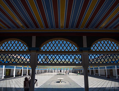Bahia Palace, Marrakesh, Morocco (Abhi_arch2001) Tags: bahia palace marrakesh marrakech morocco moroccan architecture courtyard open sunny royal stripes trellis blue arcade colonnade