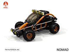 Ariel Nomad - Dune Racer (lego911) Tags: ariel tmi industries nomad offroad dune racer buggy auto car moc model miniland lego lego911 ldd render cad povray lugnuts challenge 108 9th birthday lugnutsturnsnine turns nine byrequest by request 4x4 dust desert runner 2015 foitsop