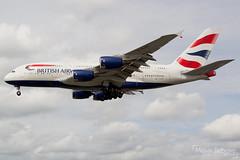 British Airways Airbus A380-841  |  G-XLEG  |  London Heathrow  - EGLL (Melvin Debono) Tags: british airways airbus a380841 | gxleg london heathrow egll melvin debono airport airplane aircraft spotting united kingdom uk plane flight flying