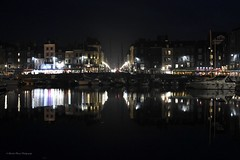 Le quai, la nuit (Charles_RAMOS-iVision18000) Tags: harbor pier reflects reflection evening cityscape urban france normandie honfleur lights perspective lines dslr digital slr nikkor 18105 d7200 inspiration photography