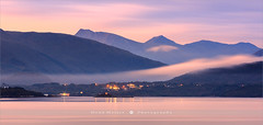 Sunrise at Karvag - Norway (~ Floydian ~ ) Tags: henkmeijer photography floydian karvag krvg moreogromsdal norwegian village westcoast sunrise morning dawn scenery serene peaceful tranquility tranquil landscape landscapes leefilters leelittlestopper twilight pano panorama panoramic canon canoneos1dsmarkiii wow brilliant