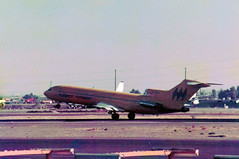 N723RW Boeing 727-2M7 cn 21202 ln 1221 Hughes Airwest Phoenix Sky Harbor 17Oct78 a (kerrydavidtaylor) Tags: phoenixskyharborinternationalairport phx kphx arizona boeing727 boeing727200