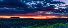 Darling Downs sunset (andrew.walker28) Tags: sunset sun red yellow orange landscape farm paddock field agriculture darling downs queensland australia