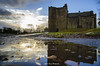 Doune Castle, Scotland (JoshuaSYChang) Tags: sunrise castle scotland doune sky cloud water ponding landscape mirror
