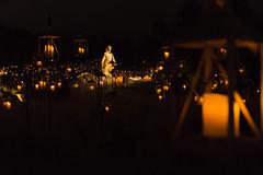 Light of the World Lamps (aaronrhawkins) Tags: lightoftheworld luminaria lamps dark statue christmas celebration night still serene thanksgivingpoint lehi utah aaronhawkins
