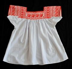 Mexico Blouse Puebla Nahua (Teyacapan) Tags: mexican blouses blusas nahua puebla zoatecpan xochitlan embroidered chickens birds textiles bordados
