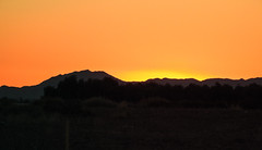 Sunset Behind Mountains; near Glendale, Arizona (hogophotoNY) Tags: glendale arizona unitedstates us stitched panoramic stitchedpanoramic november11 2016 november112016 hogo usa sun sunset orange mountain mountains glendaleaz az azusa arizonausa