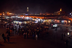 Piazza Jemaa el-Fna notturna (giulio.pedretti) Tags: marrakech marocco sunset market mosque