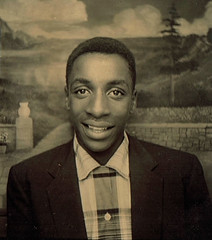 Photo Booth (~ Lone Wadi Archives ~) Tags: photobooth portrait blackman africanamerican lostphoto foundphoto retro 1950s mysterious unknown