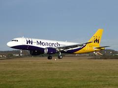 G-ZBAS Airbus A320-214 cn 6550 Monarch Airlines Luton 11Dec16 (kerrydavidtaylor) Tags: lutonairport bedfordshire eggw ltn airbusa320
