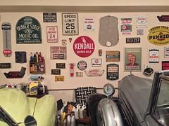 Garage Wall (packardv12) Tags: kendall packard pennzoil quakerstate champion cadillac prestone texaco sinclair firestone gulf