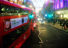 Oxford street bus and lights 26/11/16. (Ledlon89) Tags: london centrallondon westend capital