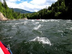 On the River (Stefan Jrgensen) Tags: rafting river clearwater clearwaterriver wellsgrayprovincialpark britishcolumbia canada water trees sony dsctx20 tx20 2013