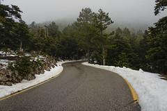 Parnitha 2 (nikolasga) Tags: parnitha road snow winter athens sony nex 5 greece