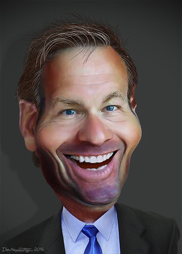 From flickr.com: Kris Kobach - Caricature {MID-72884}