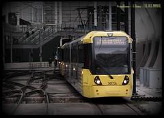 3073 leaving Manchester Victoria (zweiblumen) Tags: 3073 metrolink tram victoriastation manchester greatermanchester england uk canoneos50d canonef50mmf14usm polariser zweiblumen publictransport