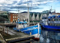 Fishing boat in Helsingor, Denmark (` Toshio ') Tags: toshio denmark helsingor elsinore boat fishingboat harbor hamlet shakespeare water hdr fujixe2 xe2 pier clouds europe european europeanunion danish