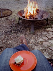 campfire 'n s'mores -monday afternoon (EllenJo) Tags: pentaxqs1 campfire smores winterinarizona verdevalley outdoors december12 2016 ellenjo ellenjoroberts fiestaware