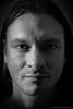 Self portrait (Javier Palacios Prieto) Tags: self portrait selfportrait face dark black light speedlight nose eyes mouth