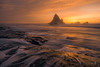 Martins treat (gmacfly) Tags: sunset california martins beach californian adventure sea seascape ocean pacific rocks seastacks flow long exposure nd filter mist hazy