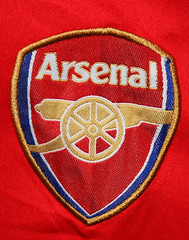 Arsenal FC Patch on Counterfeit T-Shirt (CBP Photography) Tags: soccer shirts ipr counterfeit apparel fakes cbp intellecturalpropertyrights