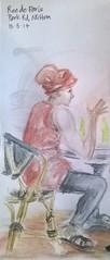 2014-05-15 Rue de Paris cafe, Milton (jaguarish) Tags: people sketch cafe brisbane milton