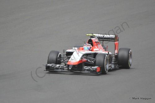 Max Chilton during The 2014 British Grand Prix