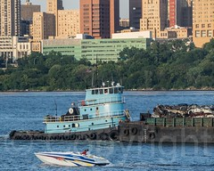 Thomas D. Witte Tugboat with Cape Wendy Barge on the Hudson River, New York City (jag9889) Tags: nyc newyorkcity usa ny newyork river boat newjersey unitedstates manhattan unitedstatesofamerica vessel transportation tugboat hudsonriver tug barge edgewater waterway washingtonheights 2014 wahi northriver workboat jag9889