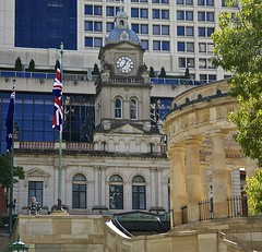 Central Station, Brisbane (Photos by Lance) Tags: building clock architecture outdoor brisbane queensland unionjack queenslandaustralia centralrailwaystation anzacsquare
