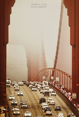 NOSTALGIA (Andrew Louie Photography) Tags: bridge fog photography golden gate san francisco overcast nostalgia telephoto