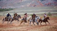 The Sprint (blackhawk32) Tags: horse cowboy wranglers western wyoming cowgirl hideout lodge hideout
