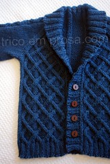 Cardigan Gramps (tricô em prosa) Tags: baby knitting handknit cables bebê gramps cardigan vovô tricô trança suéter semcostura cardigã