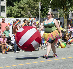 """Vancouver Pride Parade 2014 - 0212 (gherringer) Tags: summer music canada vancouver fun happy bc pride parade colourful giantball vanpride """"west end"""""""