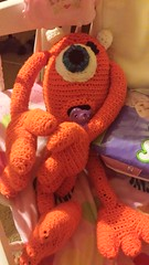 Barbara Collet (The Crochet Crowd) Tags: mike toy mikey cal amigurumi redheart monstersinc crochetalong crochetpattern staceytrock freecrochetpattern thecrochetcrowd michaelsellick mysterycrochetchallenge whosinyourcloset monstersinccrochetpattern monstersuniversitycrochetpattern