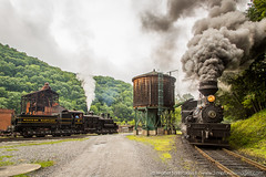 Western Maryland Shay 6 (Scriptunas Images) Tags: railroad train smoke steam westvirginia cass westernmaryland cassscenicrailroad