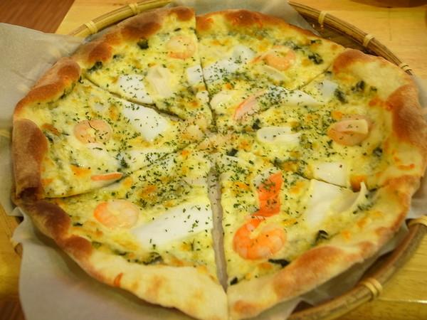 青醬海鮮披薩 180