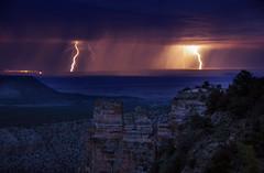 Electricity in the Canyon (J Blough 2.0) Tags: arizona storm bulb pentax nps grandcanyon az monsoon thunderstorm lightning k5 grandcanyonnationalpark pentaxk5